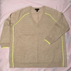 NWOT BOGO J Crew Tipped Side Panel Sweater